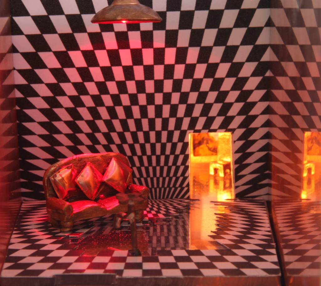 Sculpture, miniature worlds, David Lynch, Metal-smithing, Architectural Uncanny, Jewellery, Jewelry, film noir, German Expressionists